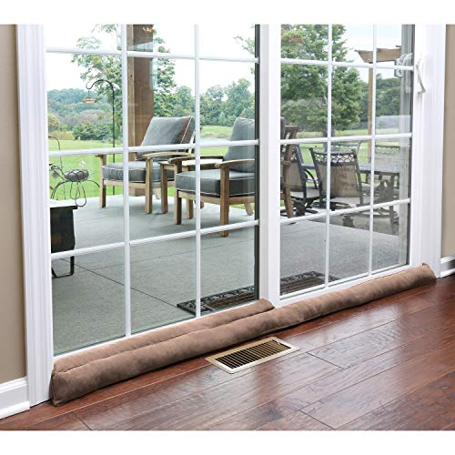 HOME DISTRICT Exclusive Sliding Door Draft Dodger - Weighted Patio Door Breeze, Bug and Noise Guard Stopper Blocker - 71.5