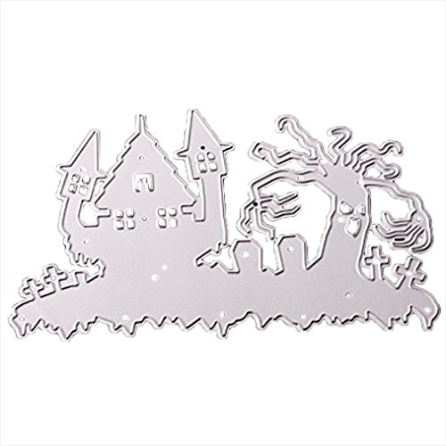 Topunder Happy Halloween Metal Cutting Dies Stencils Scrapbooking Embossing DIY Crafts -