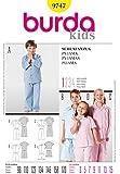 Burda 9747 Patron de couture facile Pantalons de pyjama pour enfant 3-15 ans by Burda