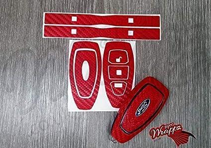 Rojo Fibra de Carbono Llave Envolvente Cubierta Funda ...