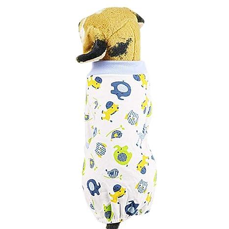 Ropa para Perros Gatos Pijamas de Perro Suave Algodón ...