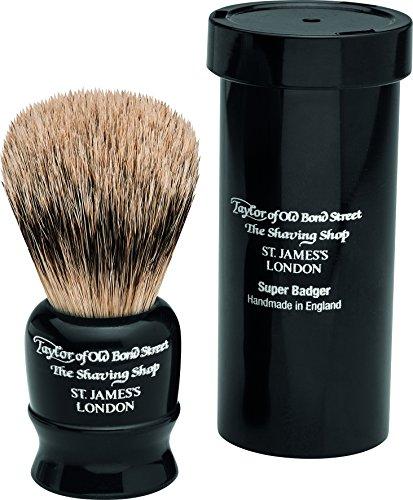 百ありがたい詩Travel Super Badger Shaving Brush, 8,25 cm, black - Taylor of old Bond Street