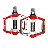 West Biking 1 Pair 9/16 Bike Pedals BMX MTB Parts Aluminum Mountain Bicycle Cycling Pedals