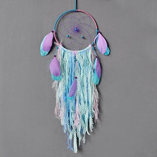 Ricdecor Dream Catcher, Dream Catchers for Kids Wall Hanging Home Decoration Decor Ornament Craft (Blue&Purple)