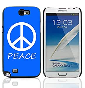 Graphic4You Peace Sign Design Hard Case Cover for Samsung Galaxy Note 2 Note II (Royal Blue)