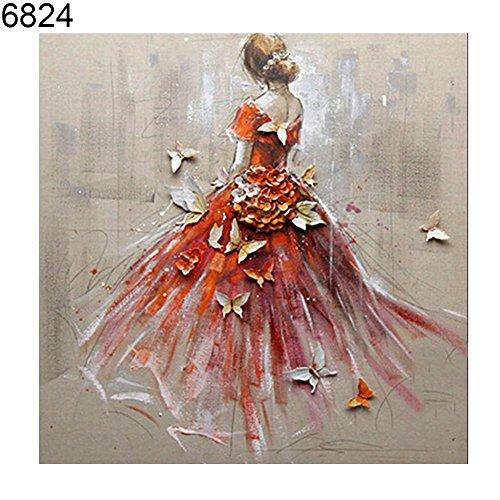 (Big Promotion! Diamond Painting Shop,Shuohu DIY Butterfly Fairy Cat Partial Diamond Painting Kit Cross Stitch Wall Art)