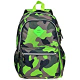 Vbiger Girl's & Boy's Backpack for Middle School Cute Bookbag Outdoor Daypack (Green(camouflage))