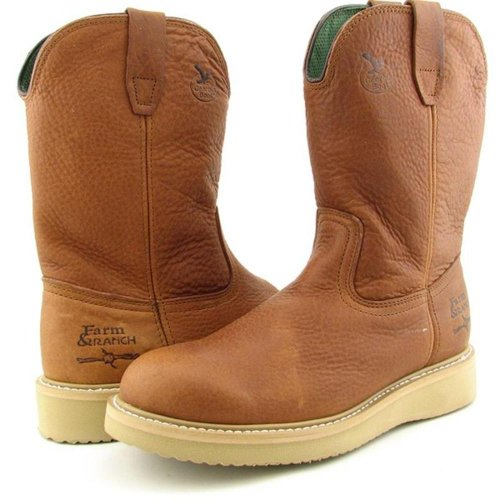 Boots Gold Mens Work Georgia Wellington Barracuda Farm Leather Ranch n qwxxZ4zR8