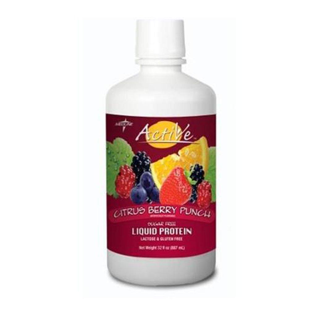 Medline Active Sugar-Free Liquid Protein Nutritional Supplement, 4 Count