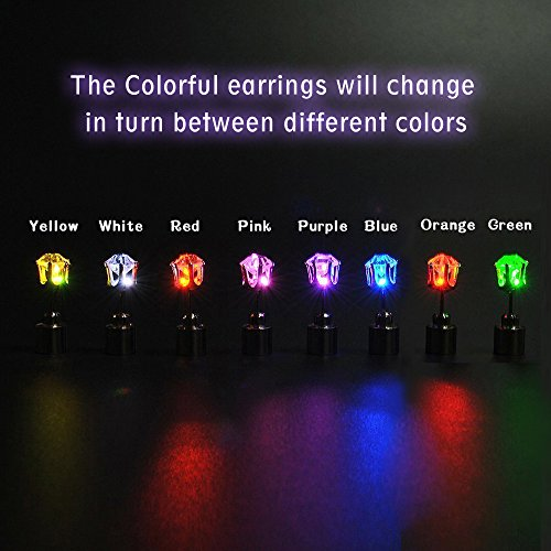 AYAMAYA-5-Pairs-Changing-Color-Christmas-Light-Up-LED-Earrings-Studs-Flashing-Blinking-Earrings-Dance-Party-Accessories-unisex-for-Men-Women
