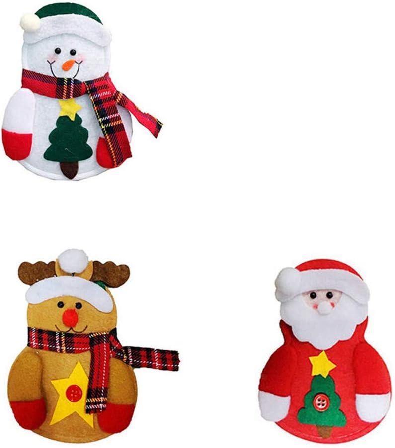 10 X Christmas Xmas Holders Pockets Dinner Table Decor Decorations Cutlery Bag