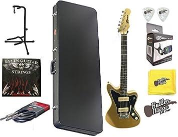 EFFIN guitarras jzm/SGLD Jazz Master estilo guitarra eléctrica w ...
