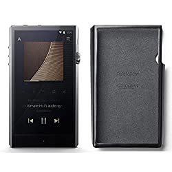 Astell & Kern Ultima Sp1000 High Resolution Music Player With Black Cordovan Leather Case (Stainless Steel)