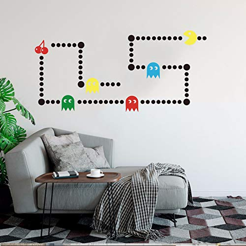 al Retro Gaming Xbox Decal Pacman Game Space Invaders Wall Sticker Vinyl Decal Art Decor Kids Room Bedroom Made in USA ()