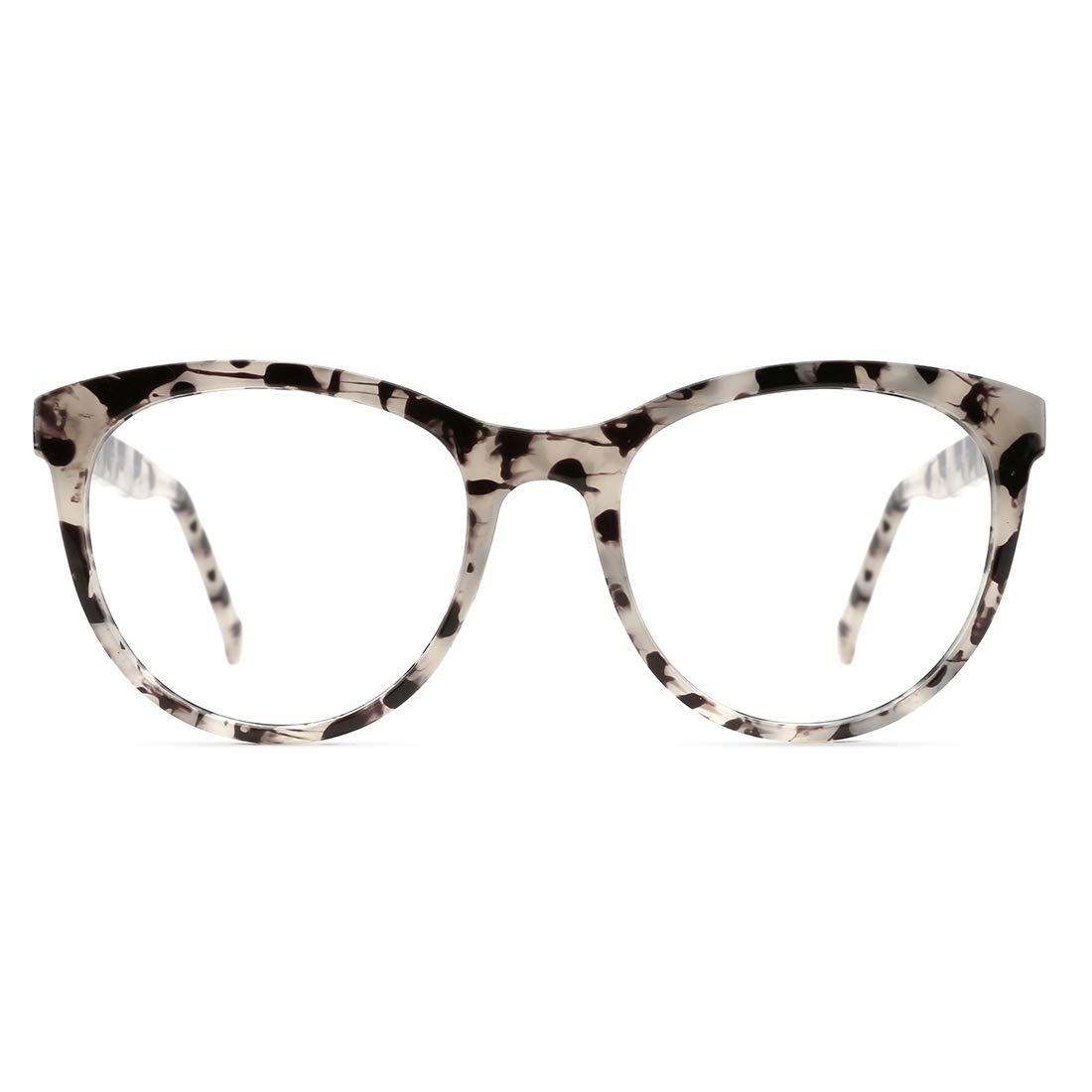 TIJN Stylish Oversized Glasses with Blue Light Blocking Lenses for Women Men Anti Eyestrain Computer Glasses