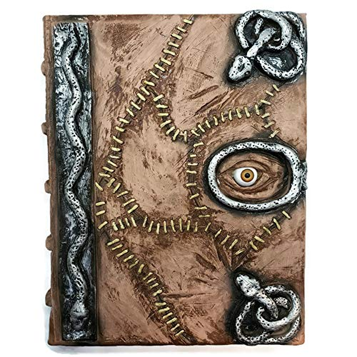 (Hocus Pocus Book of Spells Prop - spellbook Halloween Decoration Latex Necronomicon Costume Notebook)