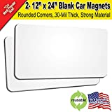 2 Pack 12''x24'' Blank Car Magnets