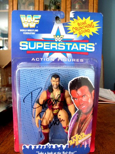 AUTOGRAPHED AUTO SIGNED WWE WWF SUPERSTARS COLLECTOR SERIES RAZOR RAMON ACTION FIGURE ()