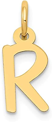 14k Rose Gold W Block Initial Monogram Name Letter Pendant Charm Necklace Fine Jewelry Gifts For Women For Her