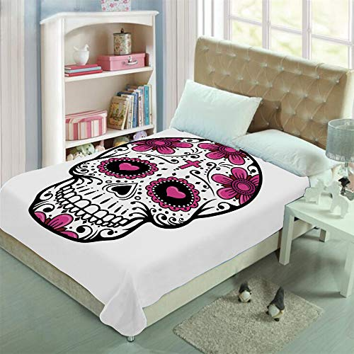 Double-sided Stylish pattern printed Throw Blanket Custom Design,Swirls Cruciform Gothic Cultural Celebration,Well keep warm with supersoft hand feeling ,add a lot of color to your life(47.2