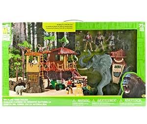 Wildlife Tree House Animal Planet Playset Jungle Adventure Play Set Elephants