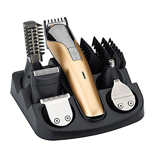 Easywin All in One Rechargeable Electric Hair Grooming Kit,Nose Ear Body Trimmer Beard Mustache Shaver Designer Hair Clippers Cutter For Barber With Combs