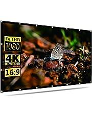 Projector Screen Indoor Outdoor Portable Movie Screens 16:9 for Home Theater Cinema Indoor Outdoor (150inch)