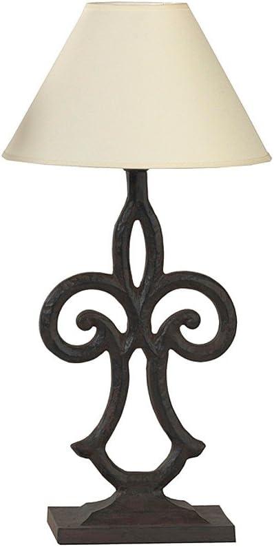 milanari &apos Hierro Lámpara rústico Style Barocco Altura 50cm