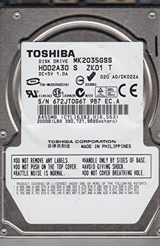 Toshiba MK2035GSS 200GB Serial ATA-150 4,200 RPM 8MB Laptop Hard -