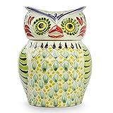 NOVICA Multicolor Ceramic Animal Themed Cookie Jar 'Owl Treats'