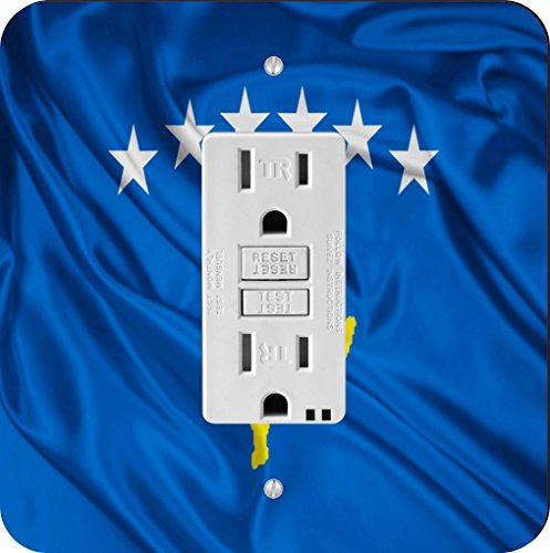 Rikki Caballero 1705GFI único diseño de bandera de Kosovo Interruptor de luz Plate