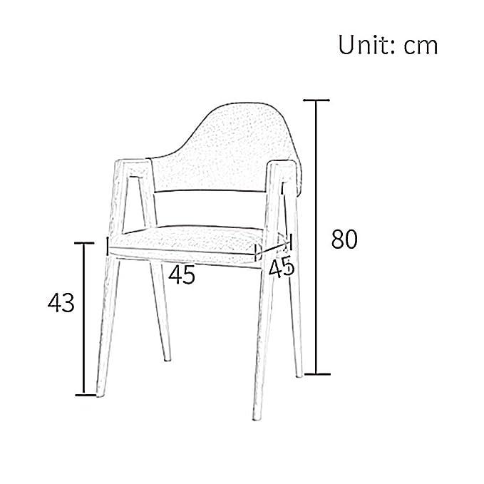 Amazon.com: Sillas de comedor con respaldo alto y patas de ...