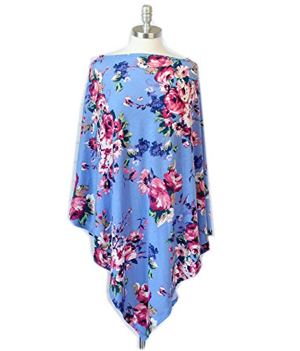 Price comparison product image Babe Maps Nursing Cover, Multi Use Breastfeeding Shawl-Vintage Floral Print, Baby Car Seat Canopy