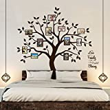 decorating ideas for living room walls Timber Artbox Beautiful Family Tree Wall Decal with Quote - The Only Décor You Need for Living Room & Bedroom