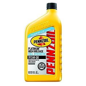Pennzoil Platinum High Mileage Full Synthetic Motor Oil 5W-30 – 1 Quart (Case of 6)