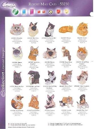 Oesd Embroidery Machine Designs Cd Robert May Cats Amazon