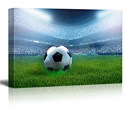 Close Up of a Football Ball on a Full Stadium (Soccer) Wall Decor
