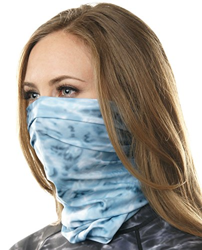 Aqua Design Face Mask for Women: UPF 50+ Motorcycle Ski Cover Balaclava Gaiter: Aqua Sky: Size Medium ()