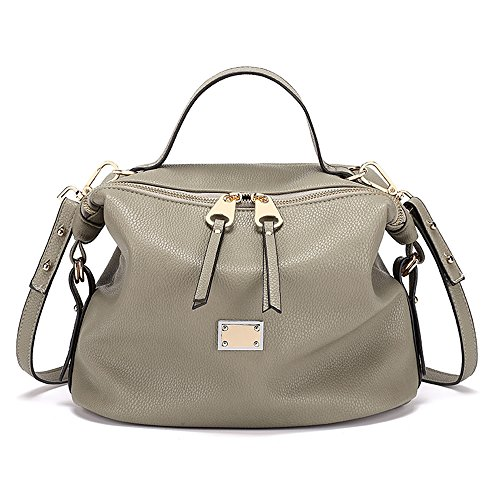 Herald Fashion Multifunction Handbag for Women PU Leather Shoulder Bags Top-Handle Satchel Tote Bags Purse (Grey) by Herald