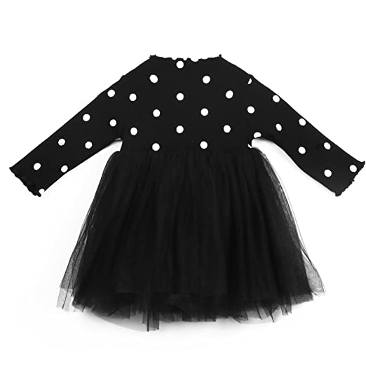 Amazon Kids Toddler Baby Girl Long Sleeve Polka Dots Knitted