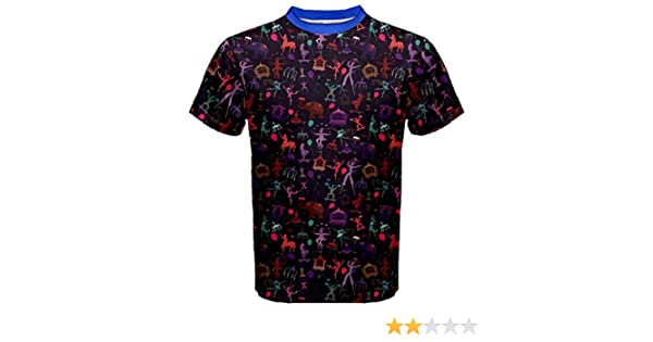 Blue Pattern Colorful Circus Magician Elephant Dancer Mens Sport Mesh Tee at Amazon Mens Clothing store: