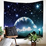 Leofanger Galaxy Tapestry Wall Hanging Landscape Planet Tapestry, Sunset Tapestry Milky Way Tapestry Starry Sky Tapestry Outer Space Tapestry Arts Print for Bedroom Living Room Dorm Decor