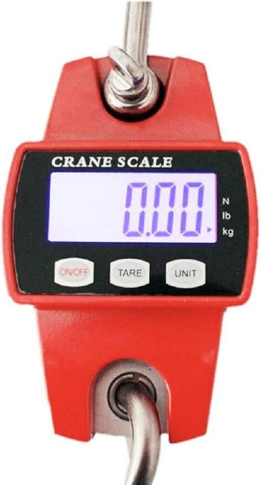 B/áscula digital para colgar 300 kg//100 g, con pantalla LCD LanXi