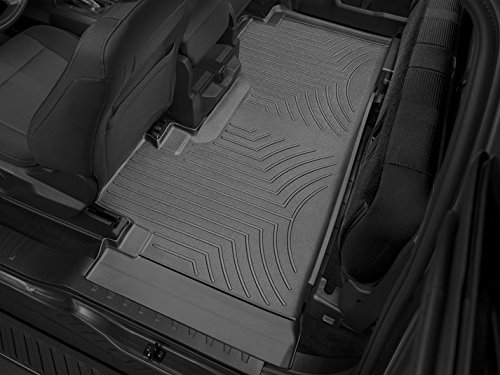 WeatherTech Compatible with 2016 Ford F-150 Floor Liners-Full Set (Includes 1st Row-Over-The-Hump and 2nd Row Uni-Liner) SuperCab (Extended Cab)-1st Row Bench-Black by WeatherTech (Image #3)