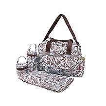 ECOSUSI 5-piece set includes Diaper bag + Changing pat + Changing mat + Transparent wet bag + PVC bag + Pacifier bag