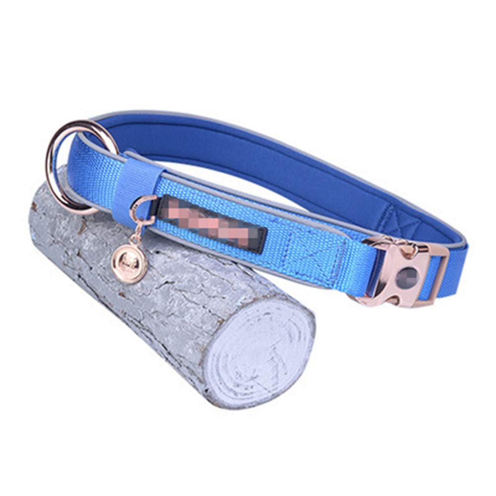 bluee 1.6cm3145cm bluee 1.6cm3145cm ZCYX Pet Leash Classic Reflective Collar Dog Collar Dog Collar Pet Control Traction Hyena Rope Stretchable Dogpet Rope (color   bluee, Size   1.6cm3145cm)