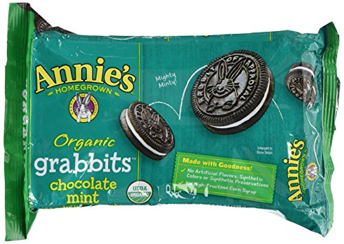Mint Organic Cookies (Annie's Organic Grabbits Chocolate Mint Sandwich Cookies, 20 ct)