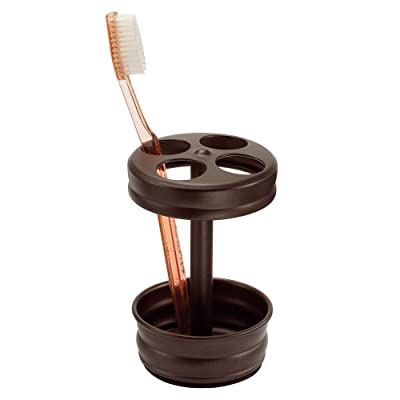 InterDesign Olivia Toothbrush Holder Stand for Bathroom Vanity Countertops - Bronze