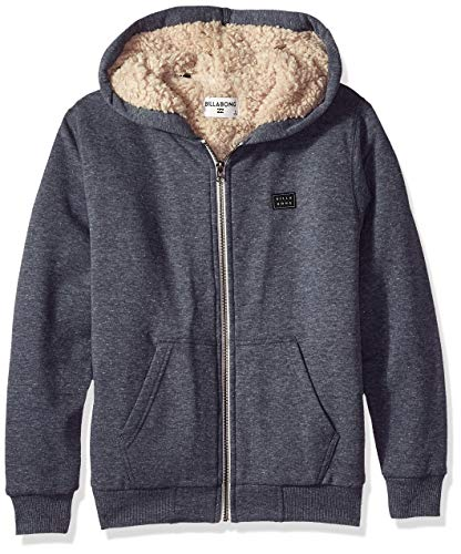 Billabong Boys' Big Day Sherpa Zip Hoody, Navy, L