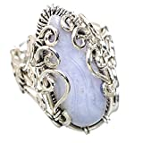 Ana Silver Co Blue Lace Agate 925 Sterling Silver Ring Size 8.25 RING833198